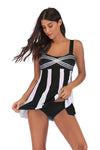 SLV  VERTICAL STRIPES SWIMSUIT - BelleChloe