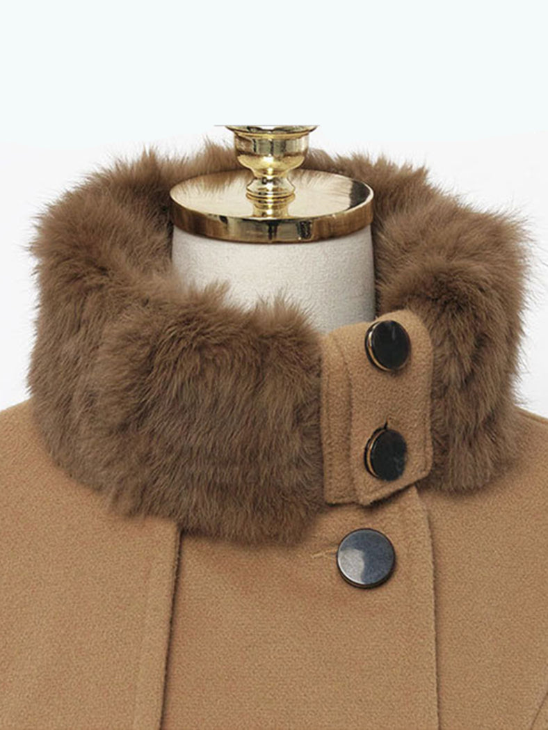 Mid-Length Woolen Coat Double-Breasted Thick Coat