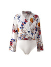 Female Fashion Long Sleeve Summer Sexy  Coveralls Bodysuits Swimwear - BelleChloe