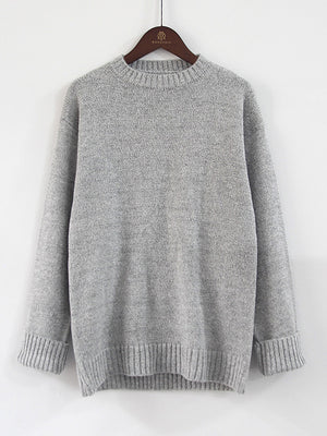 Loose Knit Round Neck Pullover Sweater
