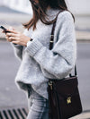 Warm Female High Collar Pullover Sweater