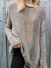 Knit Sexy Long Sleeve Off Shoulder Pullover Sweater