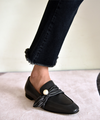 【HIGT QUALITY】 Small Size Womens Comfortable Smooth Cow Leather Loafers - BelleChloe