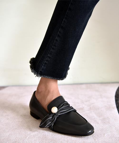 【HIGT QUALITY】 Small Size Womens Comfortable Smooth Cow Leather Loafers