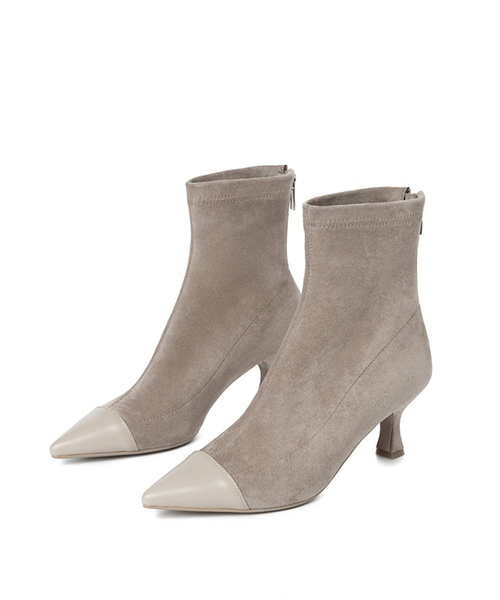 【HIGT QUALITY 】Small Size Women Suede High-Heel Short Boots