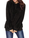 Fuzzy Casual Loose Hooded Pockets Coat - BelleChloe