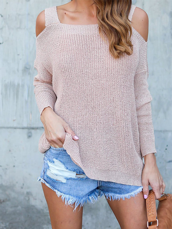 Thin Hollow Out Sleeves Sweater