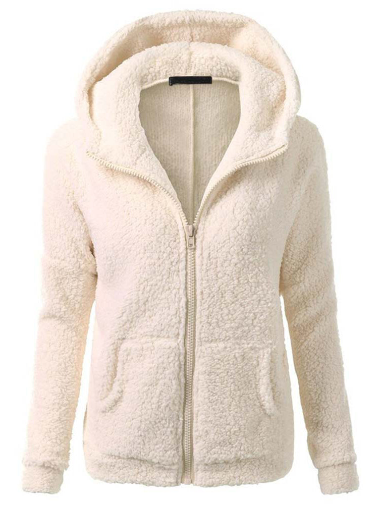 Warm Fur Thicken Woolen Hooded Coat-Coats-BelleChloe