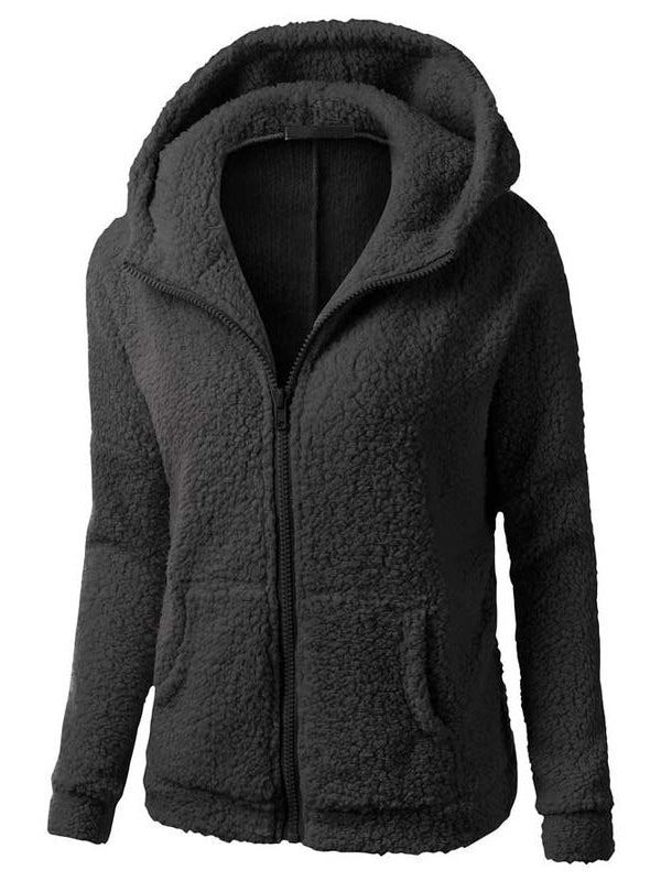 Warm Fur Thicken Woolen Hooded Coat - BelleChloe