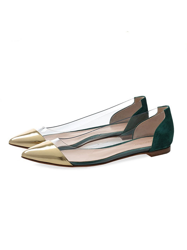 Fashion Metallic Pointed Flats - BelleChloe
