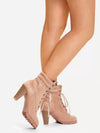 Fine Heel Straps High Heel Fashion Boots - BelleChloe
