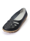 Super Soft Leather Loafers Cowhide Leather Hollowed Out Casual Working Shoes - BelleChloe