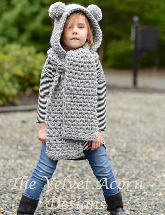 Wool Ball Bear Cut Long Scarf Warm Hat - BelleChloe