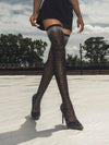Fashion Runway Crystal Stretch Fabric Sock Boots - BelleChloe