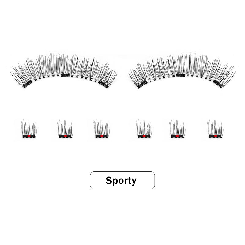 Magnetic Eyelashes 3D Handmade Reusable False Eye Lashes Natural Extension