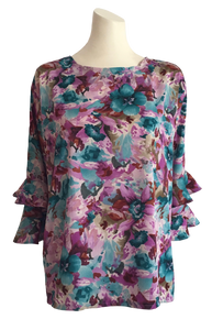 ADAPTIVE BLOUSE - FLUTE SLEEVES (HETTIE)