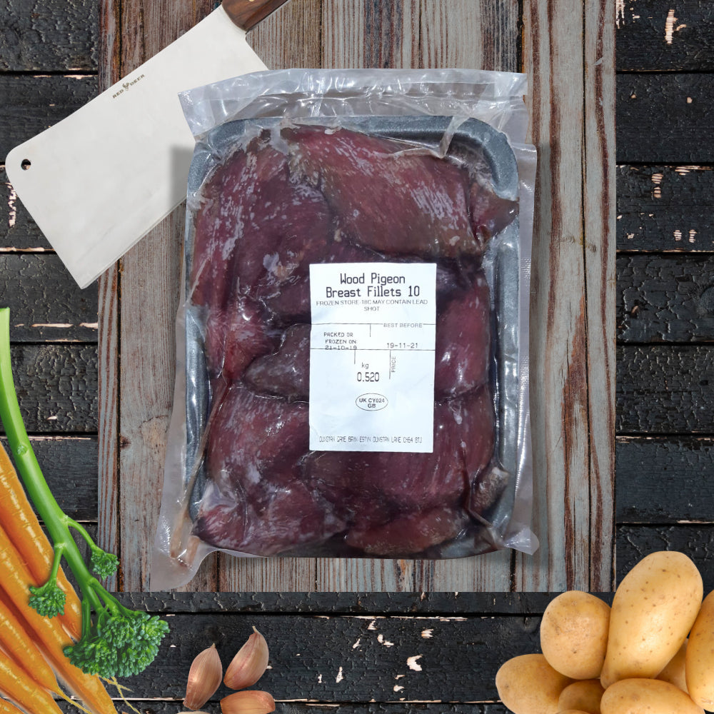 Wood Pigeon Breast Fillets - 10 per pack, 500g