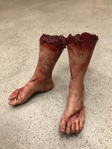 Pair of severed feet