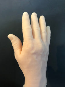 Silicone right male hand unpainted