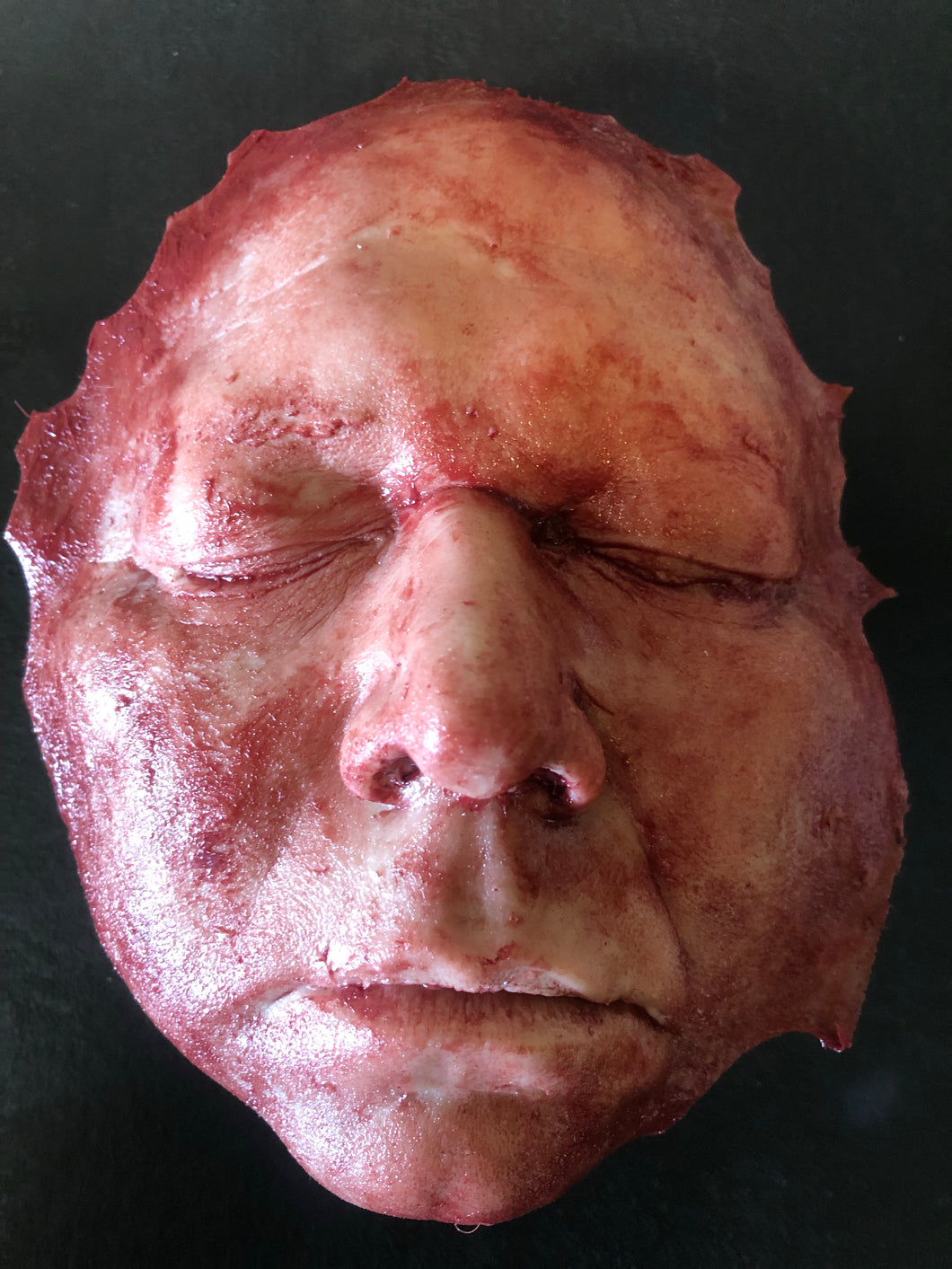 Skinned adult male face