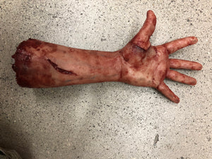 Severed arm with magnetic thumb