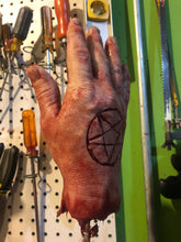 Load image into Gallery viewer, Severed male hand with pentagram