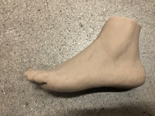 Load image into Gallery viewer, Silicone left female foot unpainted