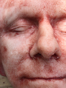 Skinned face Middle aged male