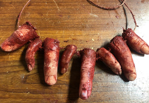 Severed finger necklace