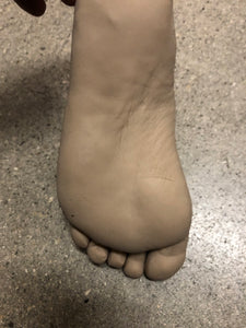Silicone left female foot unpainted