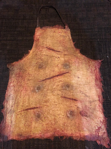Skinned pig belly apron