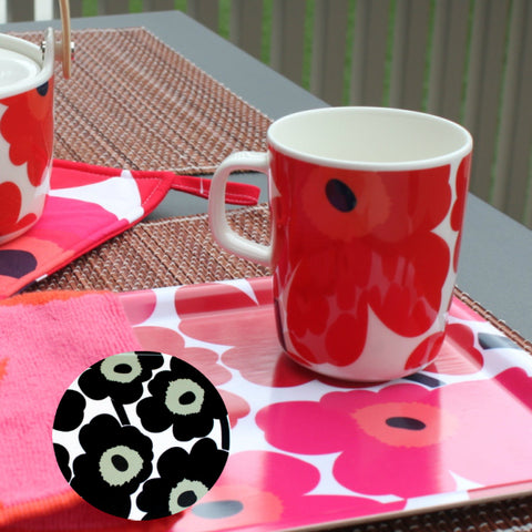 coffee mug, tea mug, hot chocolate mug, marimekko mug