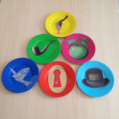 MoMA Magritte Plates--Set of 6