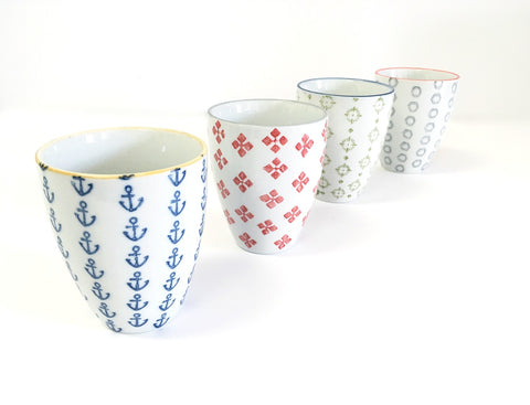 Ceramic Tumblers, Creative Co-Op Waterside Tumblers