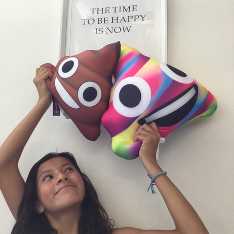 emoji microbead poop pillows