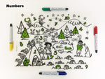 marker drawing placemat, toddler placemat, baby meals placemat