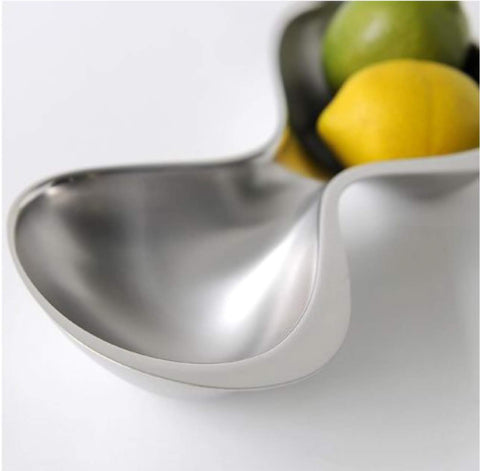 Alessi Elegant 2-Section Snack Bowl