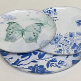 enameled floral dishware, enameled dish set