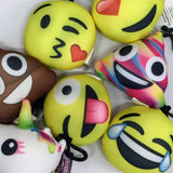 emoji pillows, emoji toys, poop charm, poop pillow, backpack charms