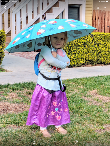 Kids umbrella, children color changing umbrella, children umbrella, cats umbrella