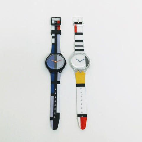 Mondrian watch, MOMA watch, swatch watch