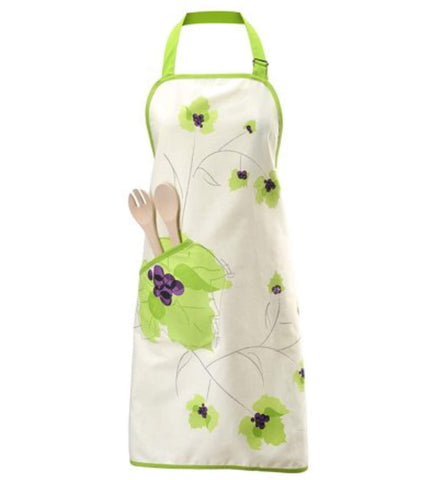 Charles Viancin Apron with Built-In Potholders--Grape Design