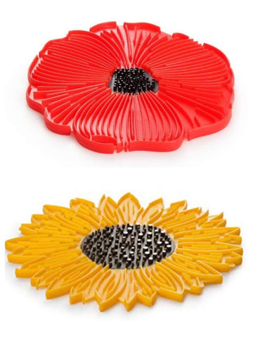 Charles Viancin Poppy and Sunflower Trivets/Potholders