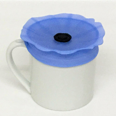 Charles Viancin Spill-Proof Drink Covers, Blue Pop Drink Covers