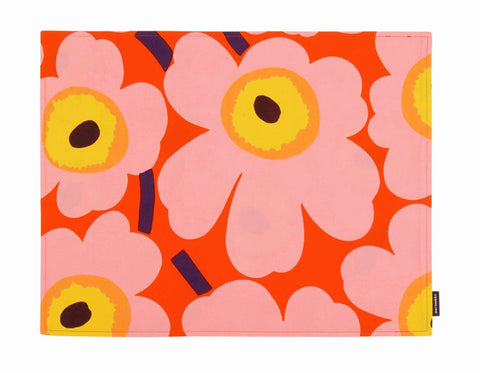 Table placemat, marimekko table placemat, coated placemat, floral tableplacemat