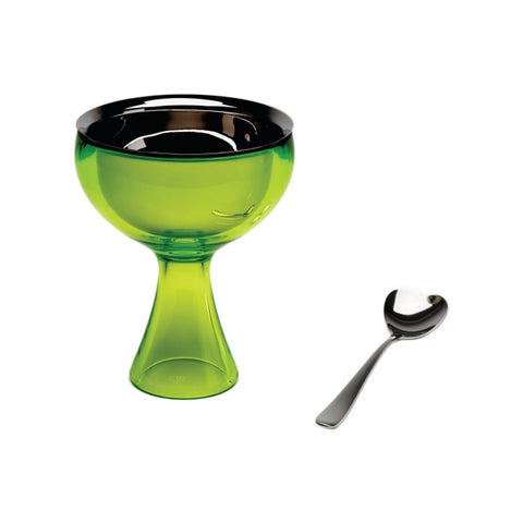 "Alessi ""Big Love"" Dessert Bowl with Spoon, ice cream bowl"