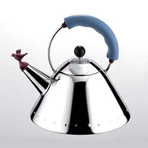 Alessi Tea Kettle with Bird Whistle by Micheal Graves