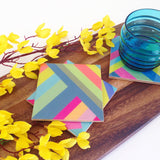 Modern Striped Coasters, set of 4