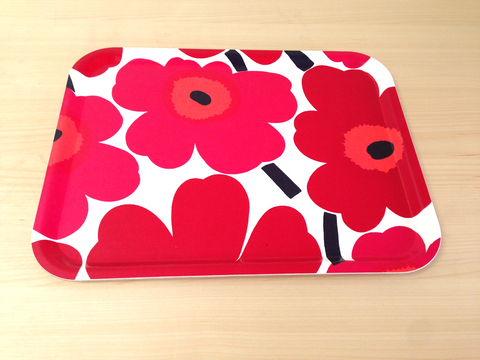 Marimekko Plywood Tray, unikko playwood tray