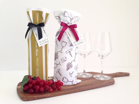 Wine Lover Bottle Wrap/Tea Towel